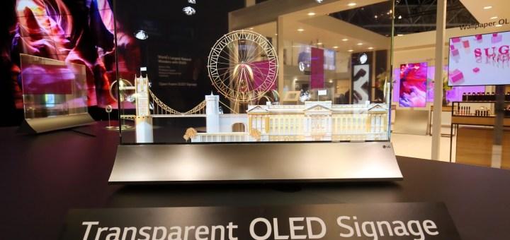LG, Yeni Şeffaf ve Dokunmatik OLED Ekranını Tanıttı